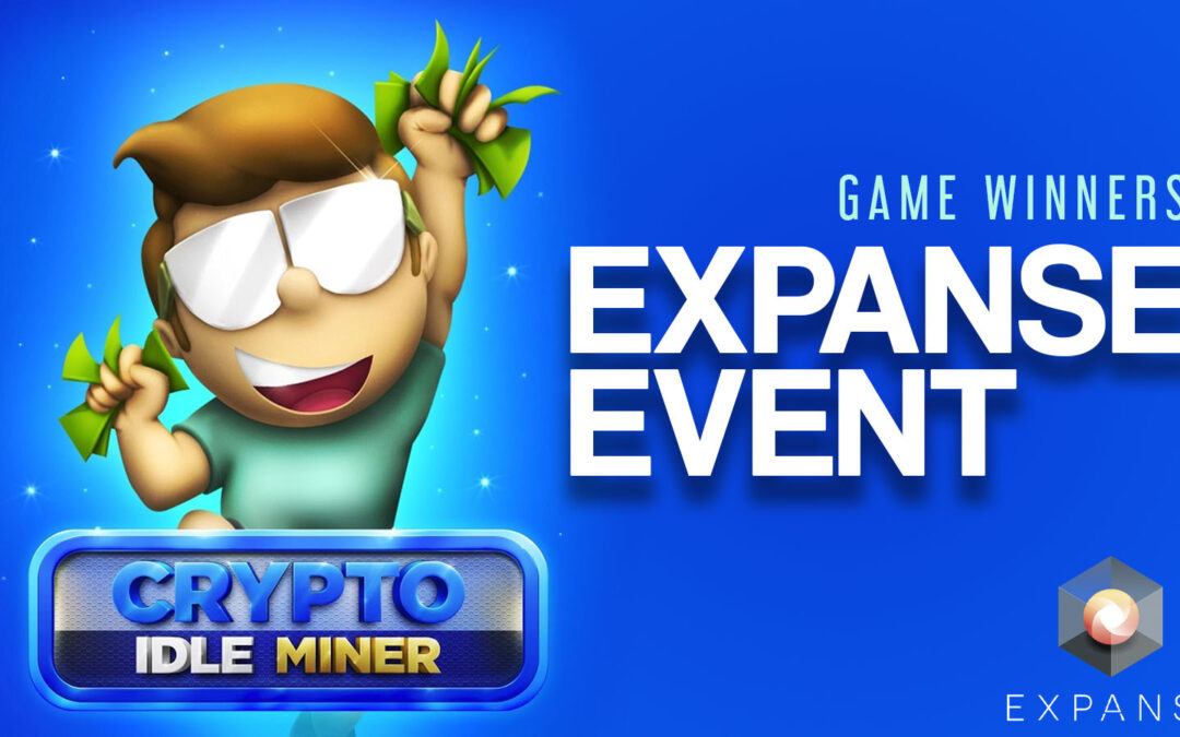 Crypto Idle miner Expanse event game winners